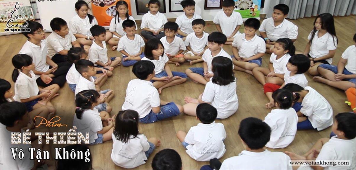 Giờ học lớp Bé Thiền Vô Tận Không